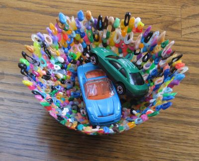 Melted Perler Bead Bowls - Childrens Craft Ideas