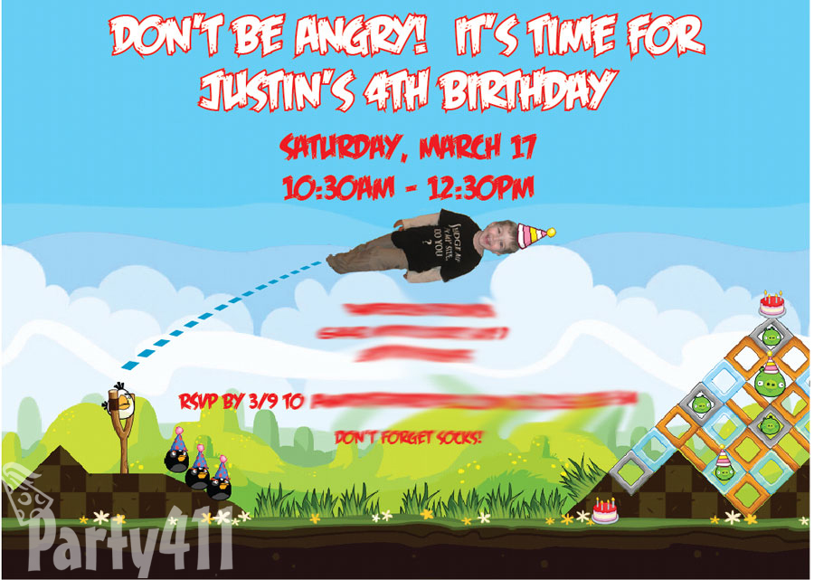 Angry Birds Theme Party Ideas and Pictures Daily Party Dish – Angry Birds Party Invitations
