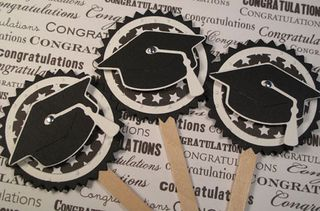 Cupcake toppers for Grad Party