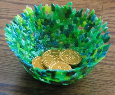 St. Patrick's Day Kids Craft: Perler Bead Bowls