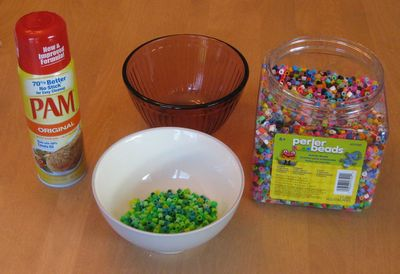 What you need to make Perler Bead Bowls