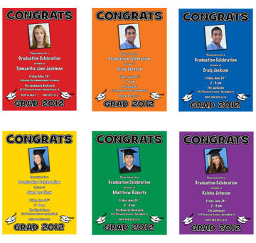 School Colors Graduation Invitations