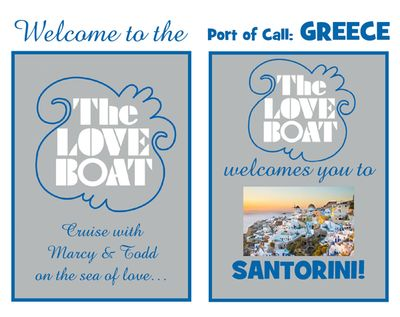 Custom Love Boat Theme Party Signs