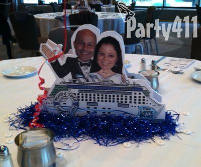 Custom Love Boat Centerpieces