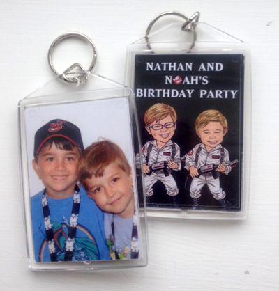 Kids Birthday Party Photo Keychain Favor