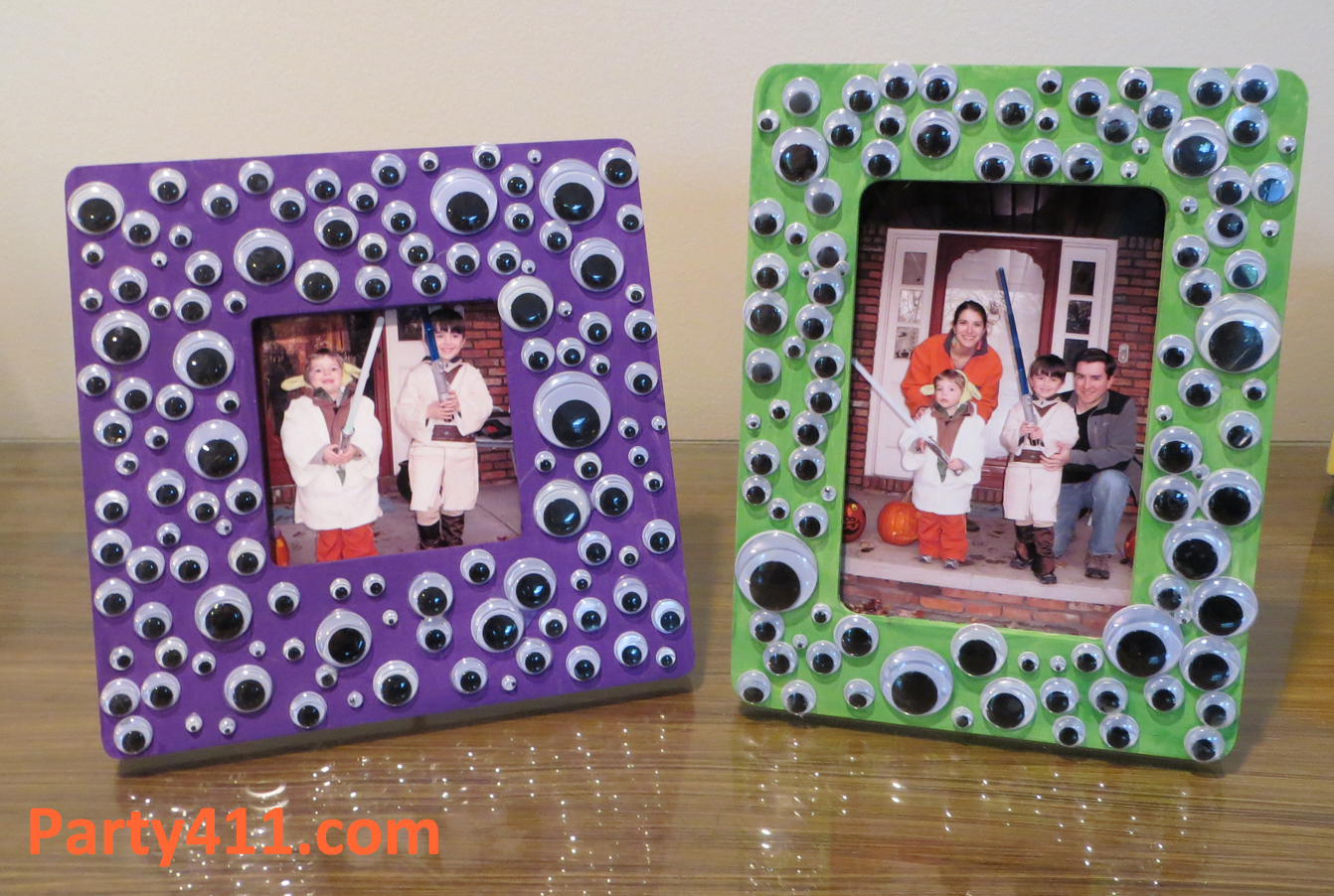 Halloween craft ideas eyeball picture frame daily party dish frame jeuxipadfo Choice Image