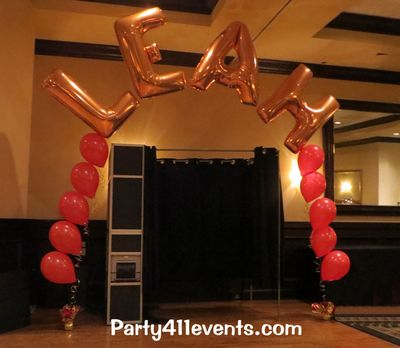Balloon Arch for Bat Mitzvah