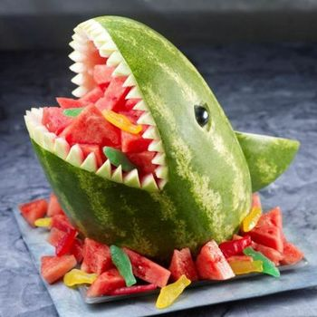 Shark Watermelon - Shark Week Party Ideas