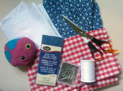 Supplies to make fabric bunting
