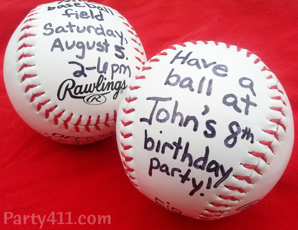 diy baseball or softball party invitations daily party dish