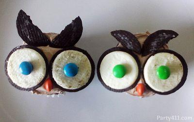 Owl Cupcake DIY