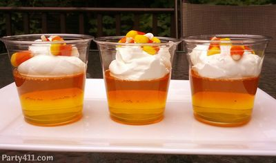 Halloween Candy corn Dessert Idea