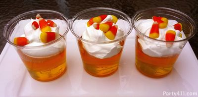 Candy Corn Jello Cups Recipe