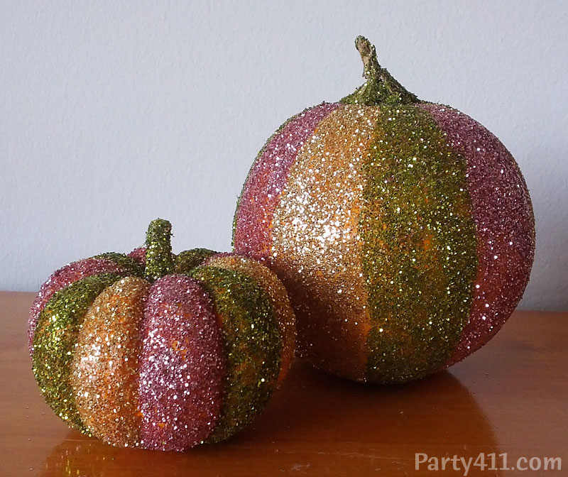 glitter pumpkin and 9 more ways to make unique pumpkin decorations