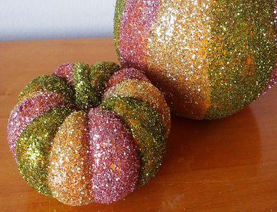 Glitter pumpkin for Halloween centerpieces