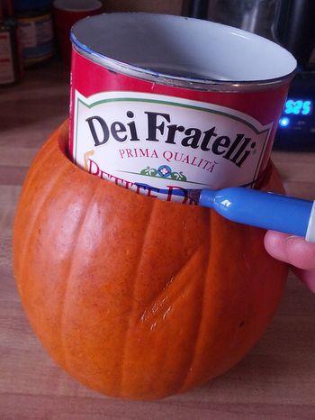 Pumpkin vase for Thanksgiving