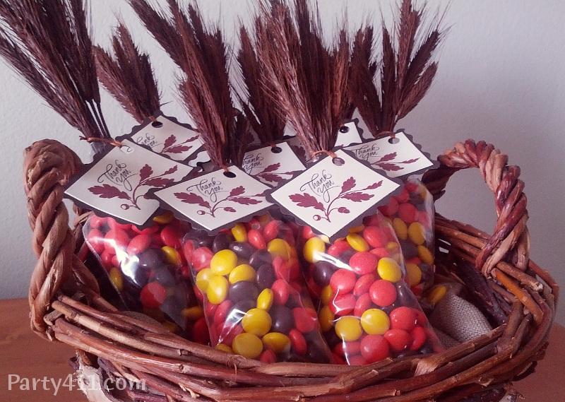 Thanksgiving Candy favor ideas