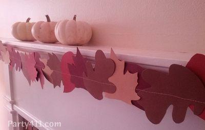 Thanksgiving Ideas Leaf Garland