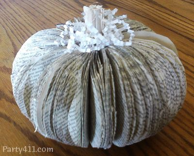 Book pumpkin craft