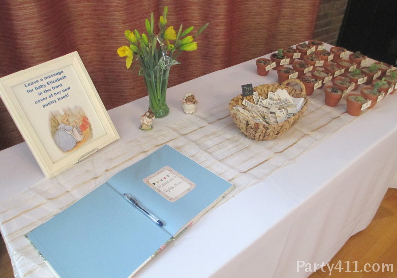 Peter Rabbit Theme Baby Shower Sign In Table And Favors Daily
