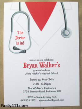 medical school graduation party invitations  daily party dish, Quinceanera invitations