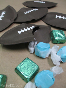 Easy Super Bowl Paper Football Candy Favors Daily Party Dish