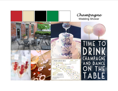 Champagne Shower Inspiration Board