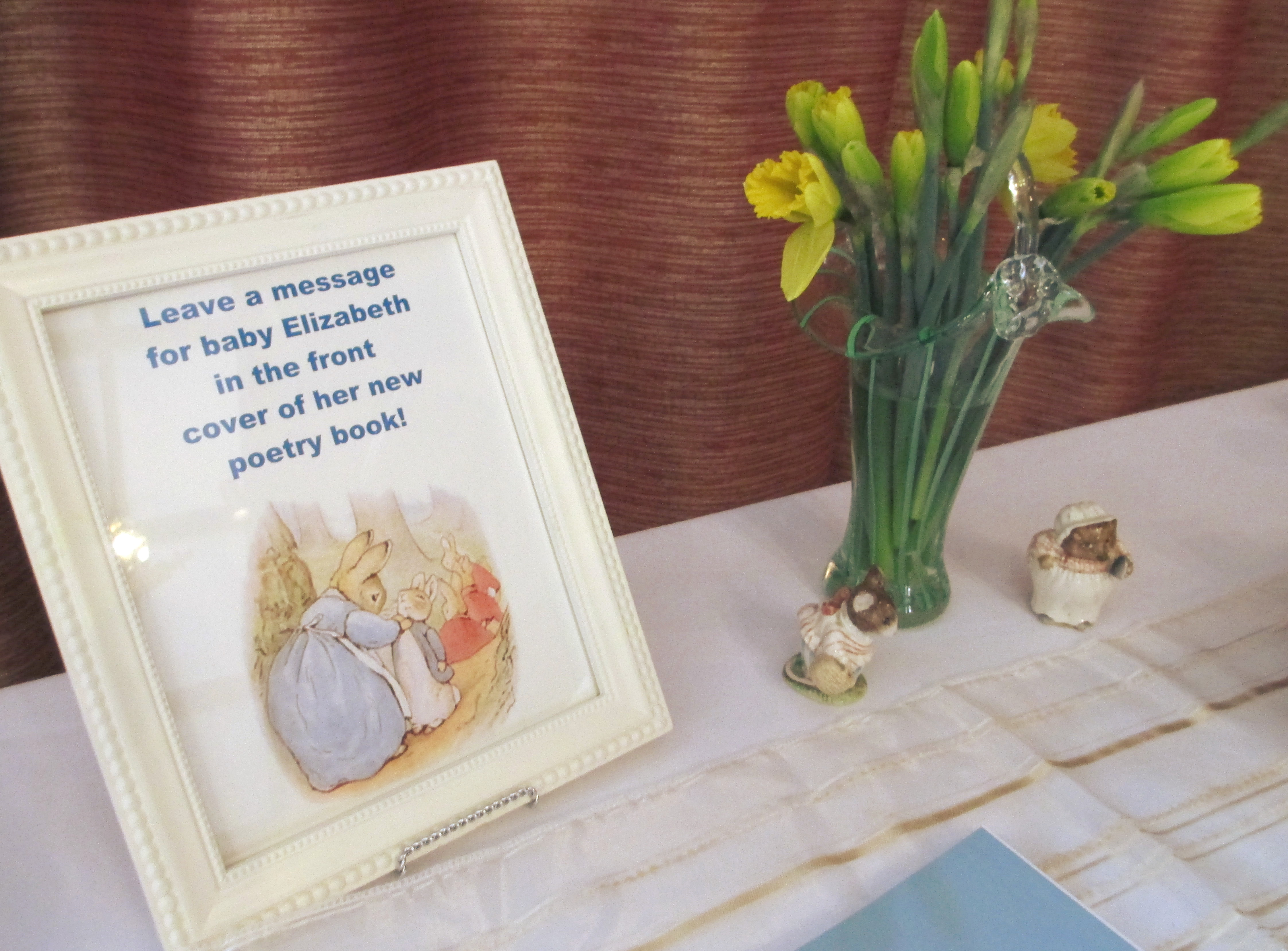 Peter Rabbit Theme Baby Shower Sign In Table And Favors Daily, Baby Shower