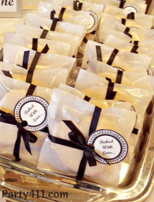 Black And White Southern Wedding Shower Favors