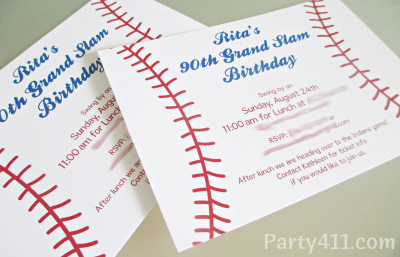 baseball theme party invitations daily party dish