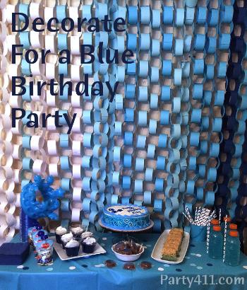 Blue Theme Milestone Birthday Party Ideas Daily Party Dish