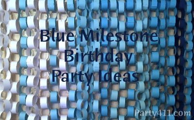 Blue Theme Milestone Birthday Party Ideas Daily Party Dish
