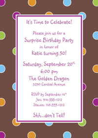 Informal Invitation Wording Sample