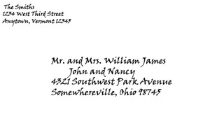 Formal Invitation Envelope Addressing Sample