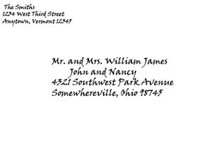 Formal Invitation Envelope Addressing Sample
