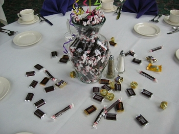 Candy as a table centerpiece
